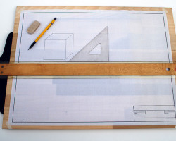 Drafting Board with T-Square