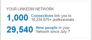 1,000 LinkedIn Connections
