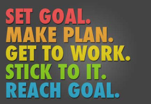Set goal, make plan, etc.